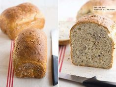 Pan de espelta multi semillas. Receta Spelt Bread, Pan Bread, Thermomix Bread, Rustic Bread, Food N, Sin Gluten, Food For Thought, Bread Recipes, Tapas