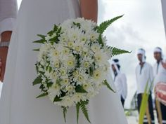 White flower bridal bouquet