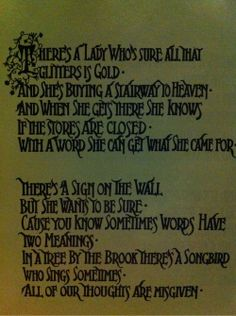 the meaning of the song stairway to heaven