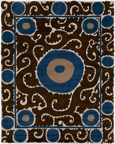 Suzani rug, Samarkand design. Madeline Weinrib - Tibetan - Carpets
