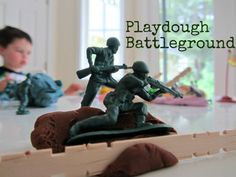 Playdough Battleground: James would LOVE this!