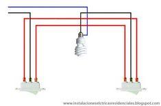 Instalaciones eléctricas residenciales - apagadores de tres vías en puentes comunesInstalaciones eléctricas residenciales - apagadores de tres vías en puentes comunes