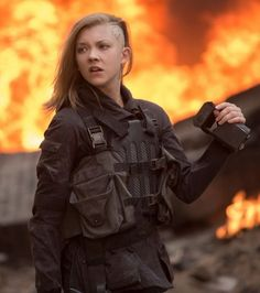 Kurt and Bart (Costume Designer) Custom Made Battle Suit as seen on Cressida (Natalie Dormer) in The Hunger Games: Mockingjay - Part 2 | TheTake.com