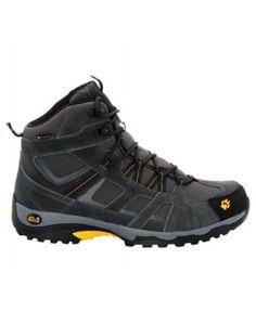 jack wolfskin chaussure vojo hike mid texapore hommes noir jaune
