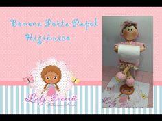 Boneca Porta Papel higiênico-Profª Ludmila Rangel - YouTube                                                                                                                                                                                 Más