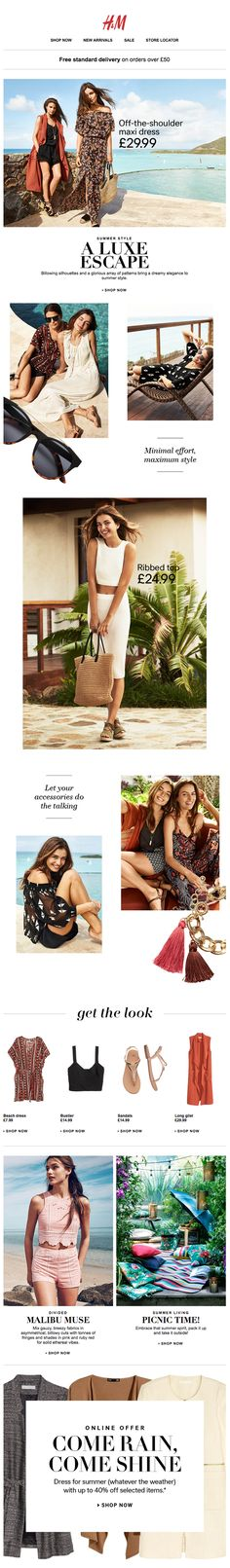 H&M | newsletter | fashion email | fashion design | email | email marketing | email inspiration | e-mail