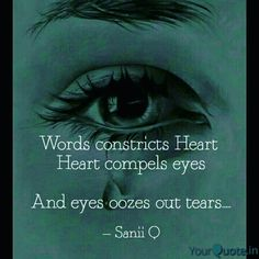Words and tears