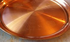 Vintage Tray, Copper, Large, Round, Serving Tray, Copper Tray, Big Tray on Etsy, $20.00