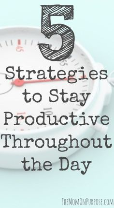 5 things to do that will help keep you motivated and productive each day! You will get more done and have fun doing it while following these tips!
