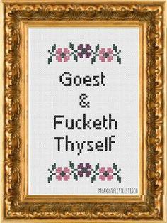 PDF Pattern Goest and Fcketh Thyself by NaughtyLittleStitch