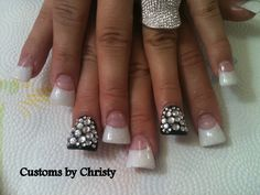 bling flare nails, cute  I'm trying to decide what my next fill in will be...??