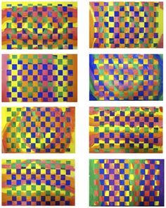 The Rolling Artroom: Warm/Cool Paper Weaving 1st-3rd Grade