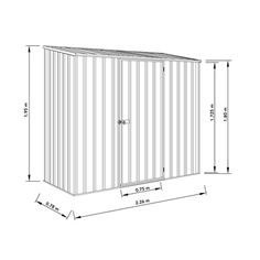 Absco Sheds 2 26 X 0 78 X 1 95m Space Saver Single Door Shed Monument Single Doors Shed Storage Shed