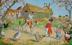 Farmyard Circus CREATED: 1975 ARTIST: Molly Brett (English, 1902-1990)  offset lithograph fine art print
