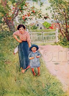 Say A Nice How Do You To Your Uncle Art Print By Carl Larsson