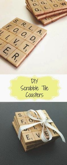 The Ultimate Pinterest Party Week 184 | DIY Scrabble Tile Coasters