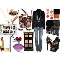 Showgirls Style Inspiration: Vegas Bound, created by thesymmetricswan on Polyvore