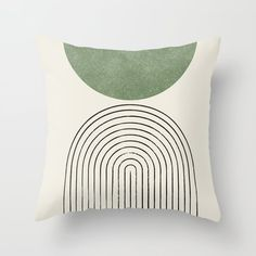 Arch balance green Throw Pillow by moonlightprint Couch Throws, Couch Pillows, Down Pillows, Green Throw Pillows, Green Pillow Covers, Accent Pillows, Geometric Throws, Designer Throw Pillows, Patch
