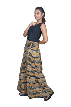 Making a fashion statement is no time to be boring with this ikat palazzo pant. cost:Rs 950/- (for trade inquiries please contact our whatsapp no  Single / Retail Customer ...please contact 8099433433 B2B/Resellers/Bulk buyers...please contact 8801302000)