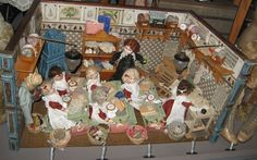 A 19thc sewing school room in Basel Toy Museum 2012