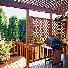 added lattice panels for privacy or shade