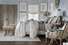 Grey_Greige and Turquoise Bedroom_Soft and Beautiful