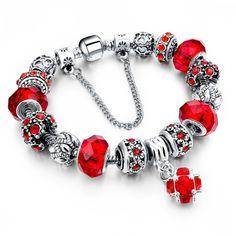 Tibetan Style Silver Red Crystal Charm Bracelet //Price: $14.99 & FREE Shipping //     #jewelry #jewels #jewel #socialenvy #PleaseForgiveMe #fashion #gems #gem #gemstone #bling #stones #stone #trendy #accessories #love #crystals #beautiful #ootd #style #fashionista #accessory #instajewelry #stylish #cute #jewelrygram #fashionjewelry