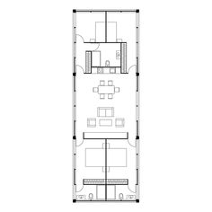 MIMA Essential 3.0 Total Area 141m2 Small House Floor Plans, Modern House Plans, Container House Design, Tiny House Design, Temporary Housing, Casa Patio, Compact House, Narrow House, Cabin Plans