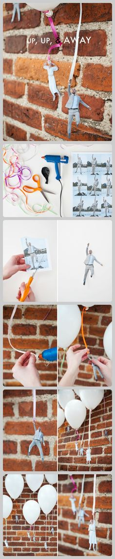 up up & away | diy party balloon weights | maybe even use this for table decor?