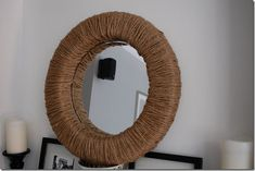 @Laura Icardi another idea...  wall mirror with jute/rope wrapped frame