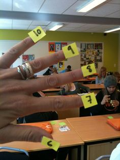 Interesting way to do multiplication. --This is how I learned my multiplication facts and still use it to this day!- cool finger trick to remember any multiplication fact for Multiplication Facts, Math Facts, Math Fractions, Math Resources, Math Activities, E Mc2, Third Grade Math, Homeschool Math, Homeschooling