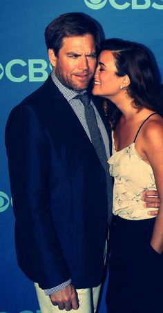 Michael Weatherly and Cote de Pablo at 2013 CBS Upfronts
