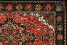 Wow! This isn't a rug as it first appears. It's quillwork by Lisa Nilsson