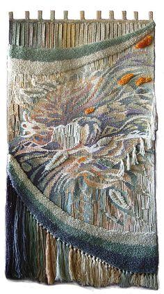 """Купить Гобелен ручной работы """"Фантазия"""" - Гобелен, ручное ткачество, смешанная техника, ручная работа"""
