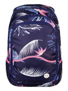 Charger - ROXY Roxy Rucksack für Frauen  Der Charger ist Teil der Roxy Spring/Summer Accessories Collection 2015. Dieser Rucksack für Frauen zeichnet sich durch ein separates Laptop-Fach und seitliche Mesh-Taschen aus. Weitere besondere Features sind: Stickereidetail am Panel hinten, hergestellt aus 100% Polyester.  Merkmale:  Roxy Rucksack, Separates Laptop-Fach, Seitliche Mesh-Taschen, V...