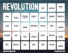 I'm in! My January Challenge. REVOLUTION: 31 Days of Yoga by Yoga With Adriene.