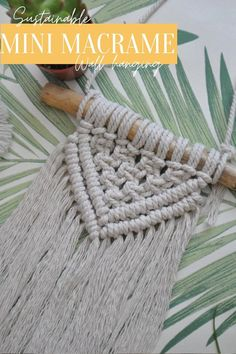 This handmade, sustainable mini macramé wall hanging is the perfect start to a Macramé décor obsession.   The piece is made from 80% recycled cotton materials and the wooden branch is sourced naturally and prepared over months.   Hang it up in your office, a nursery, or a bedroom space for a little sustainable boho charm.  Check out our Etsy store for this little addition and more! Nature Decor, Eclectic Decor, Natural Texture, Natural Living, Scandinavian Style, Merino Wool Blanket, Wall Hangings, Decoration, Creative Art
