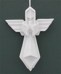 Origami Angel Ornament
