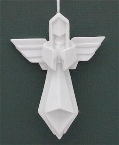 Origami Angel Ornament