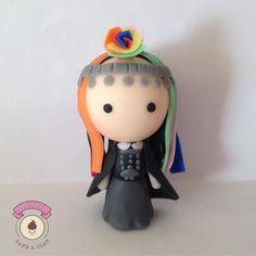 Chilean Mapuche woman #polymerclay