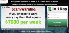 1k in 1 day scam review Get Rich Quick, How To Get Rich, 1 Day, Revolutionaries