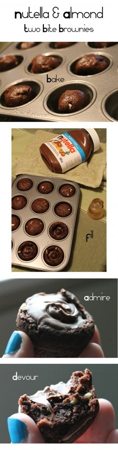 Nutella Cookie Cups - 2 Bite Brownie Style!