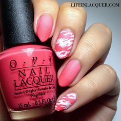 Life in Lacquer: O.P.I Gradient and Stamping Nail Art