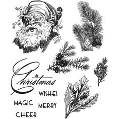 Tim Holtz Stamps ~ CHRISTMAS CLASSICS  ~ CMS322 ~ Stampers Anonymous #StampersAnonymous #UnmountedRubberStamps
