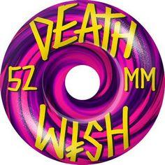 Deathwish Wheels Skateboard Wheels Deathwish Skateboards Stacked Swirl 52mm Pink Purple Swirl Skate Wheels #skateboarding