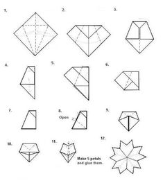 flowers origami: christmas wreath origami