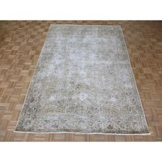 Refurbished Hand Knotted Tabriz with Rug