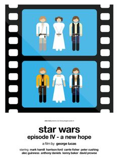 Star Wars: Episode IV - A New Hope (1977) ~ Minimal Movie Poster by Viktor Hertz ~ Two-Frame Pictograms #amusementphile