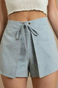 Shop Clothing - Shorts from the world's best fashion boutiques. Cute Casual Outfits, Short Outfits, Summer Outfits, Short Dresses, Summer Shorts, Diy Shorts, Flowy Shorts, Modest Shorts, Sewing Shorts