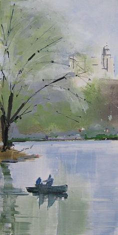 Lisa Breslow, Central Park Views 6 2015, Monotype, paper size 36 x 22 inches